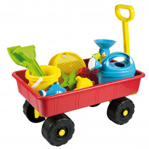 Pulling Cart with Sand Toys