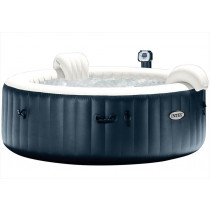 Intex Navy Bubble Jacuzzi with hard water system Ø 196 x 71 cm