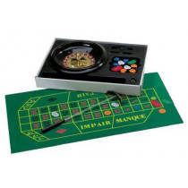 Luxe Roulette Set Complete with Chips, Cloth and Rake - 30 cm