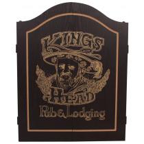 King's Head Dartkabinet Zwart/Goud