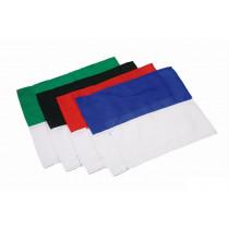 Hoekvlag 2 kleuren - Rood/Wit