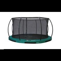 Inground Hi-Flyer 12 Combi Trampoline + Safety Enclosure - Ø 370 cm - Green